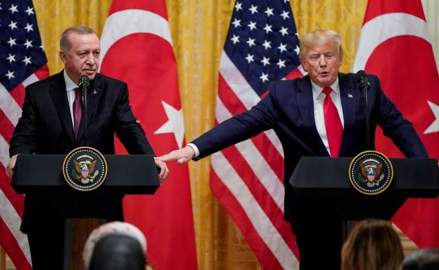 File photo: u s president donald trump and turkey's president tayyip erdogan hold a joint news conference at the white house in washington
