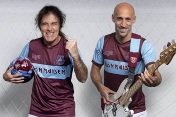 When football met … Iron Maiden