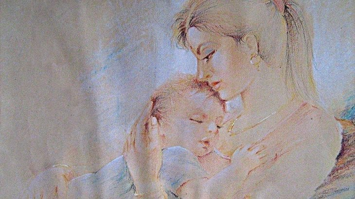 Mother And Child Painting By Vekkas M