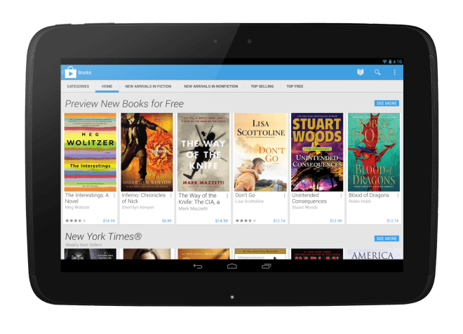 Google Play Books Tablet