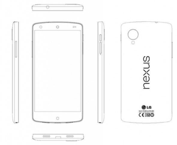 LG Nexus 5 Service Manual Drawing
