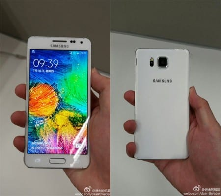 Samsung Galaxy Alpha white leak