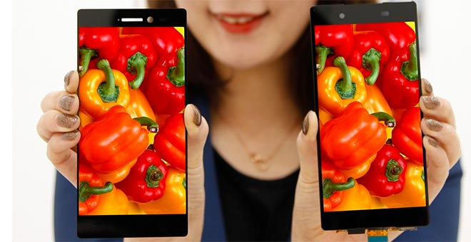 LG Display with 0.7mm bezels