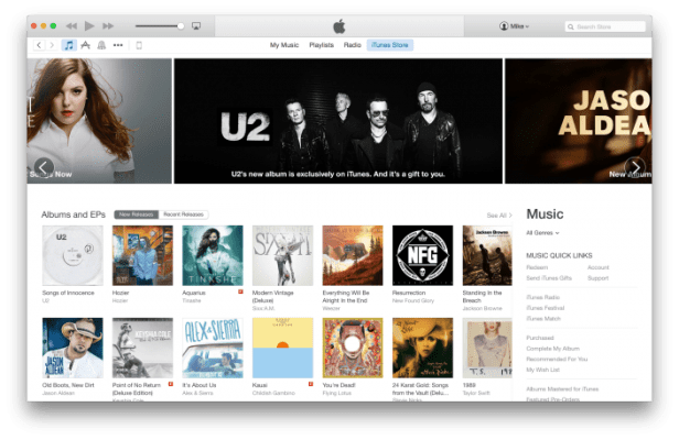 Redesigned Apple iTunes Store