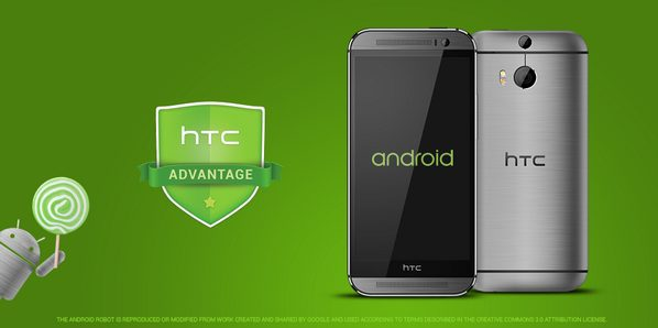 HTC One Android Lollipop