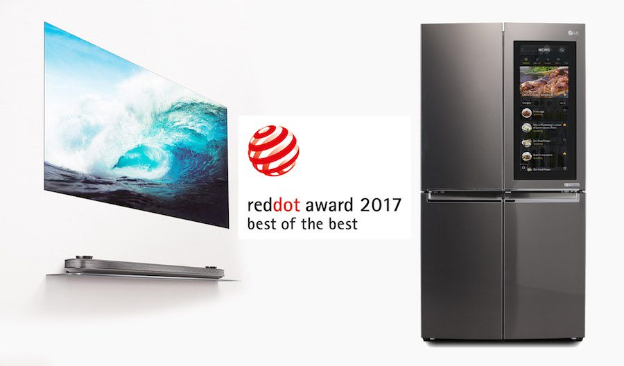 Red Dot Best of the Best with LG SIGNATURE OLED TV W + INSTAVIEW REF