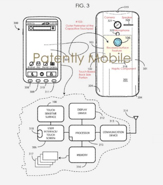 Google rear touchpad patent