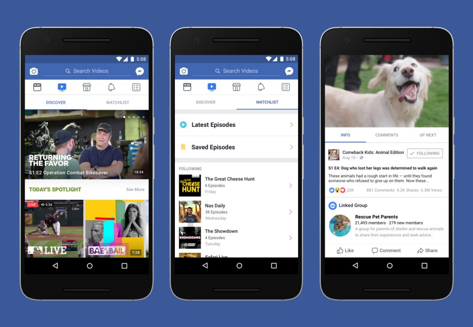 Facebook Watch Android app
