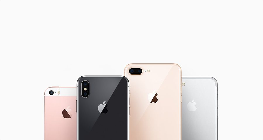 Apple iPhone family back