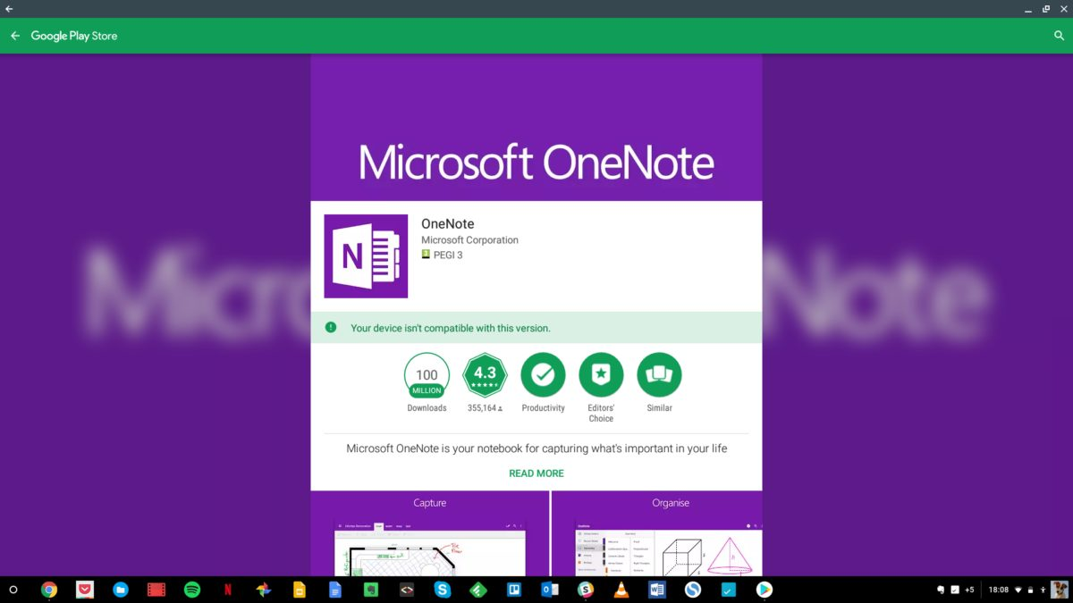 Microsoft Office OneNote for Chromebook