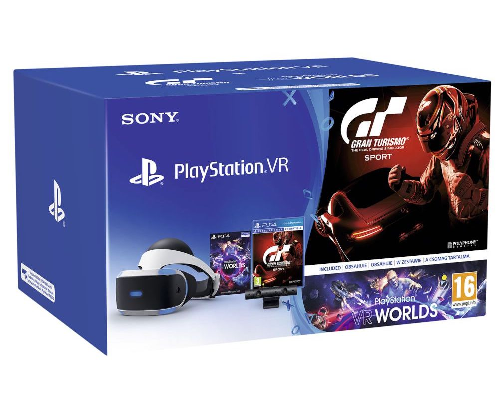 Sony PlayStation VR Headset + Camera V2 + VR Worlds + Gran Turismo Sport Black Friday offer