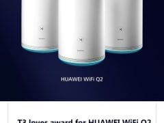 Award for Huawei WIFI Q2 by T3