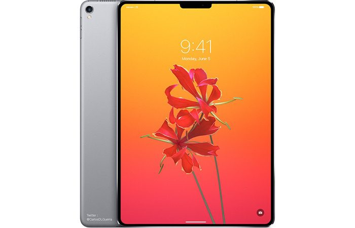 iPad Pro 3rd gen with Face ID concept