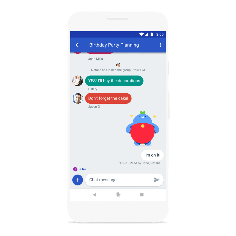 Android Messages Group Chat Preview
