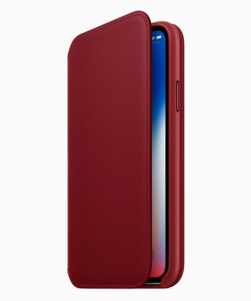 Apple (PRODUCT) RED iPhone X Leather Folio