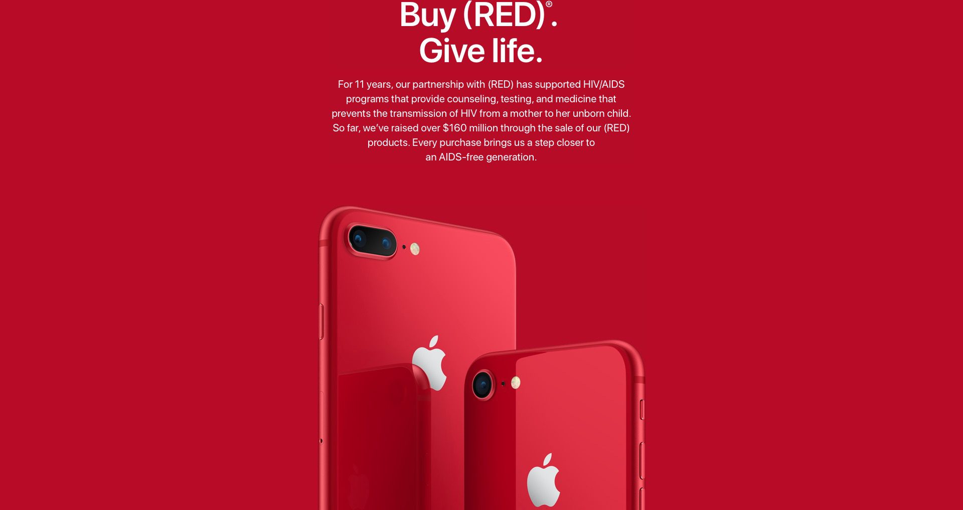 Apple iPhone 8 Plus (PRODUCT) RED Special Edition