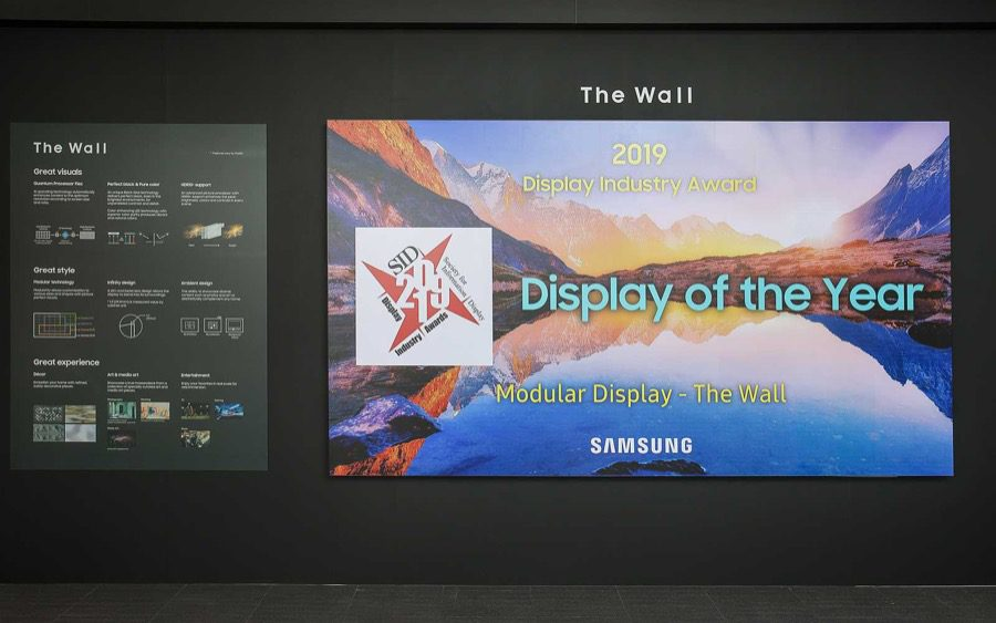 Samsung the wall sid display of the year 1