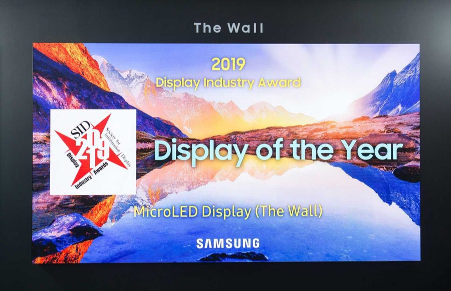 Samsung the wall sid display of the year 2