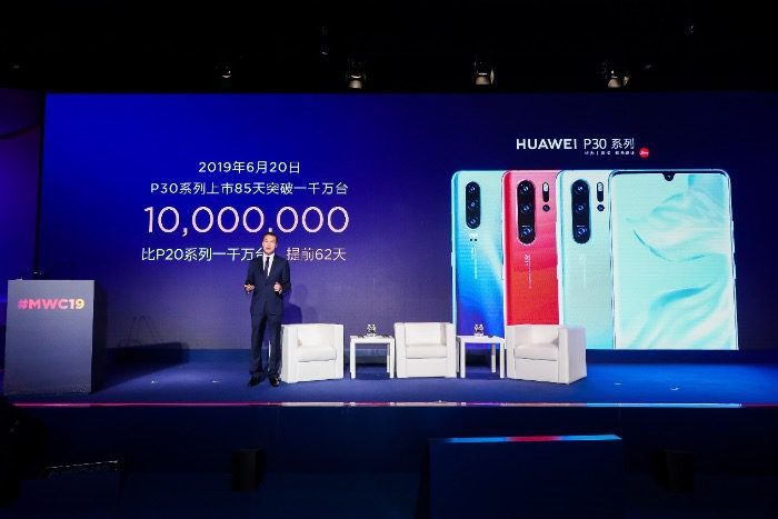 HUAWEI P30 series 10 million sales