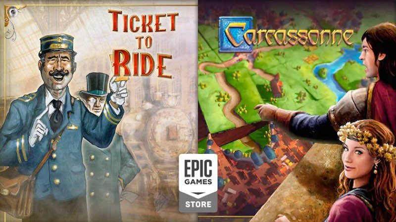 Epic Games Epic Games - Ticket to Ride - Carcassonne